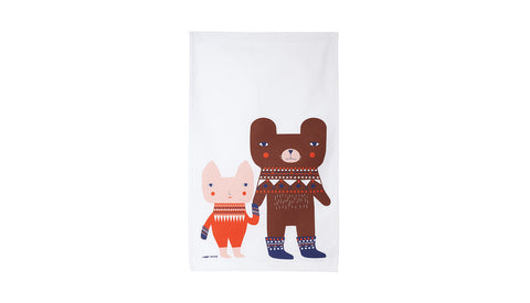 Bear Friends Tea Towel