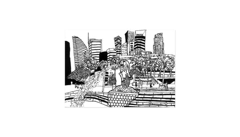 Merlion Park<br /> <i>Original Illustration</i>