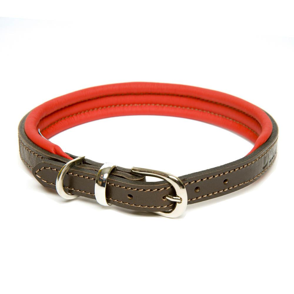 D&H CONTEMPORARY PADDDED LEATHER DOG COLLAR