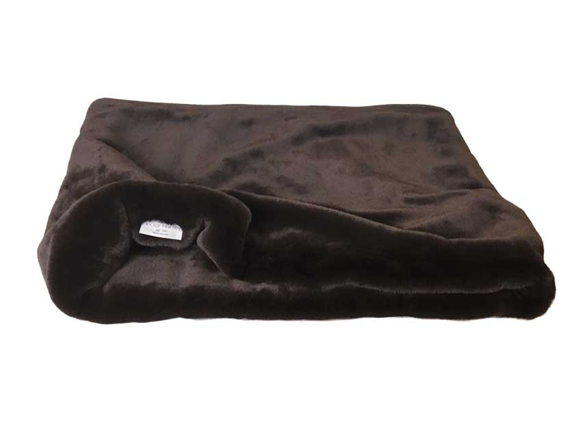 Faux Fur Cat Pocket Bed Chocolate