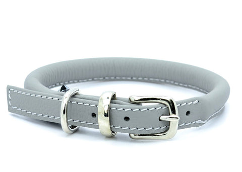 D&H Rolled Leather Dog Collar
