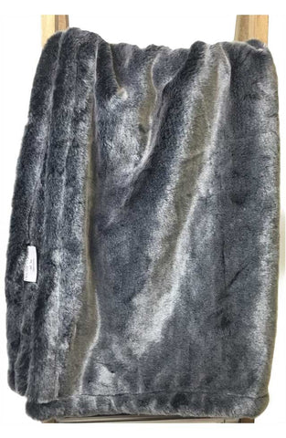 Faux Fur Blanket Grey