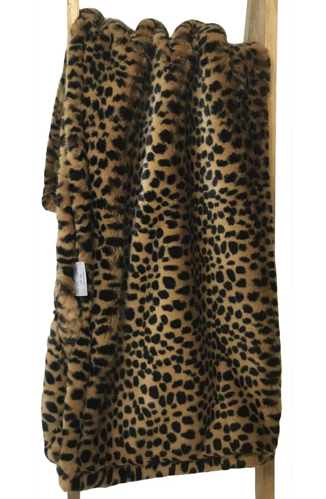 Faux Fur Throw Cheetah