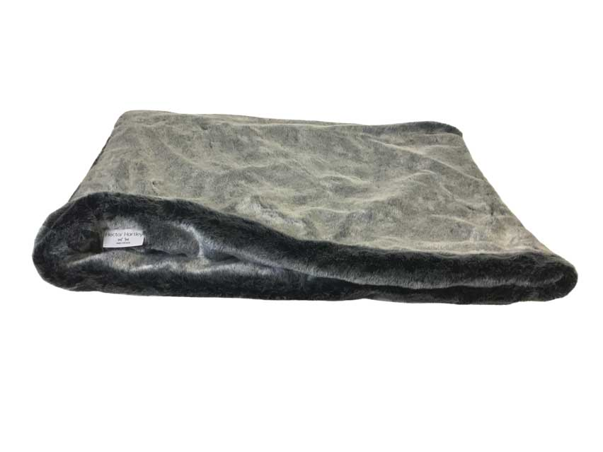 Faux Fur Pocket Bed Grey