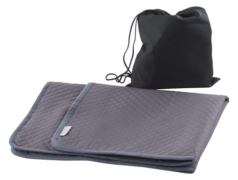 Waterproof Quilted Travel Mat in Warm Grey
