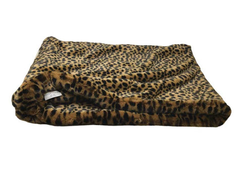 Faux Fur Cat Pocket Bed Cheetah