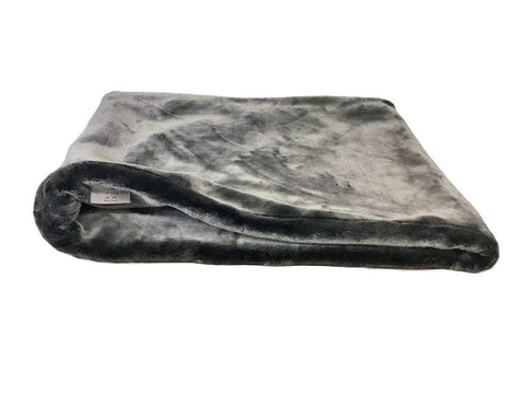 Faux Fur Cat Pocket Bed Mole Grey