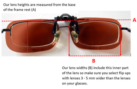 How flip up lenses are measured