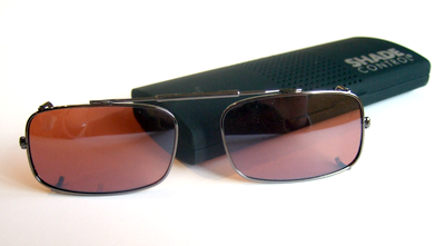 Visionaries DRX Copper polarized driving clip on sunglasses