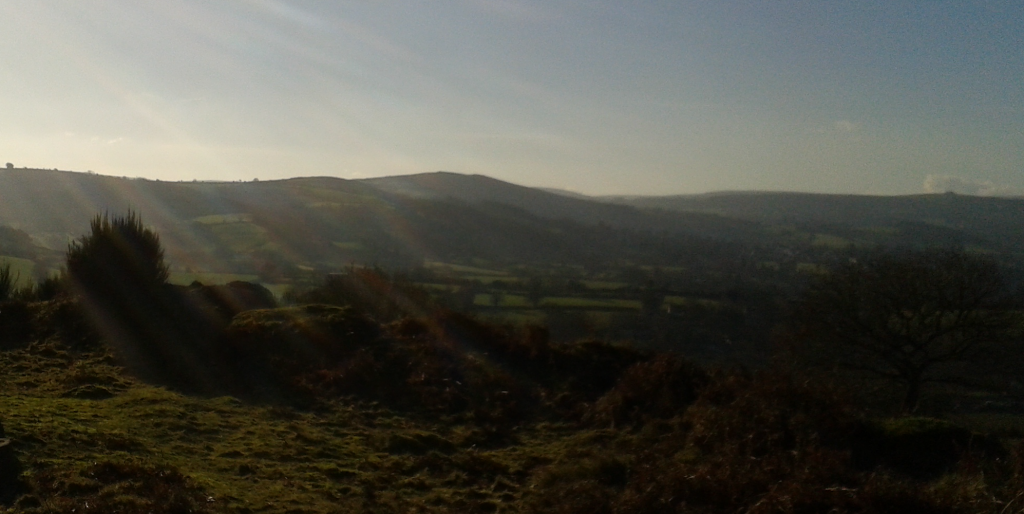 winter view of Dartmoor without clip on lenses