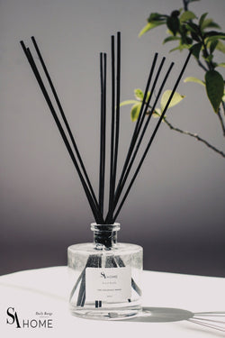 Reed diffuser in luxury glass bottle. 200ml Green Tea Infusion Fragrance Oil