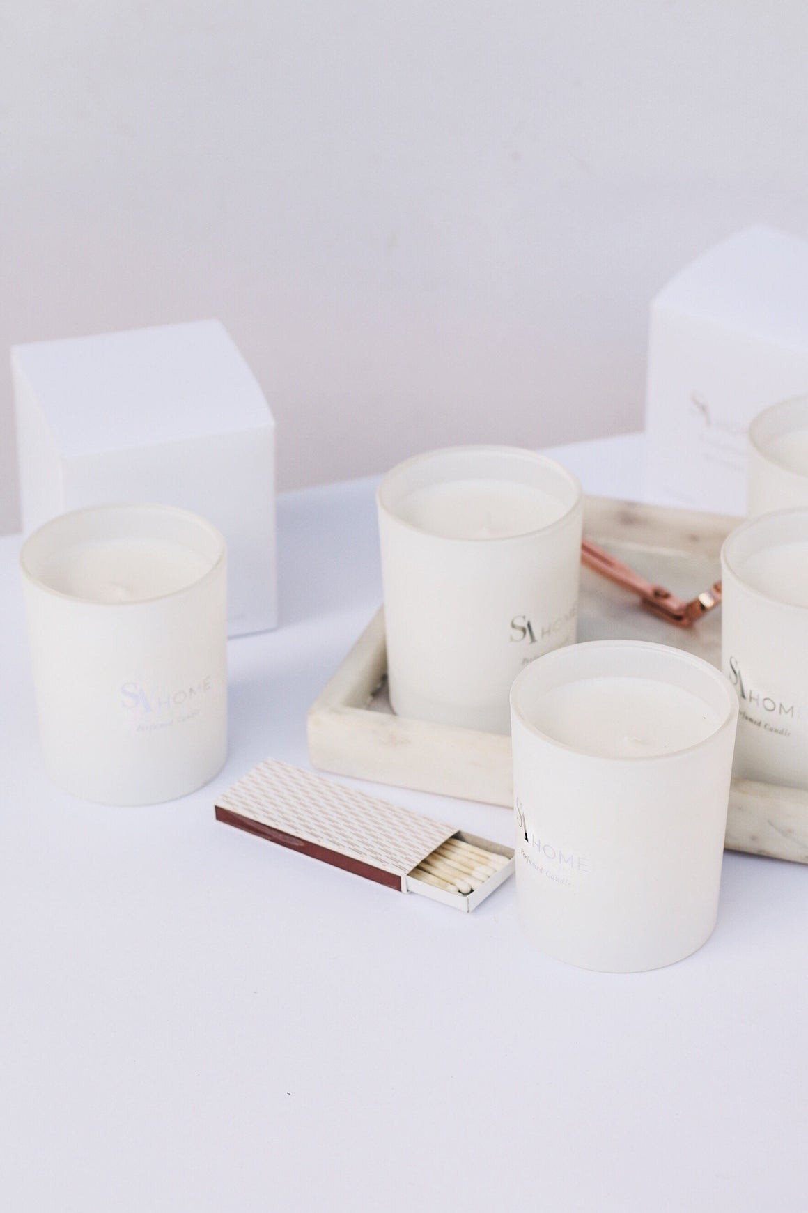Create your own Signature Luxury Candle Set of 50 Scented Soy Wax Candles