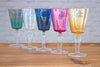 Fine hand-blown wine glasses from Aswan, Egypt