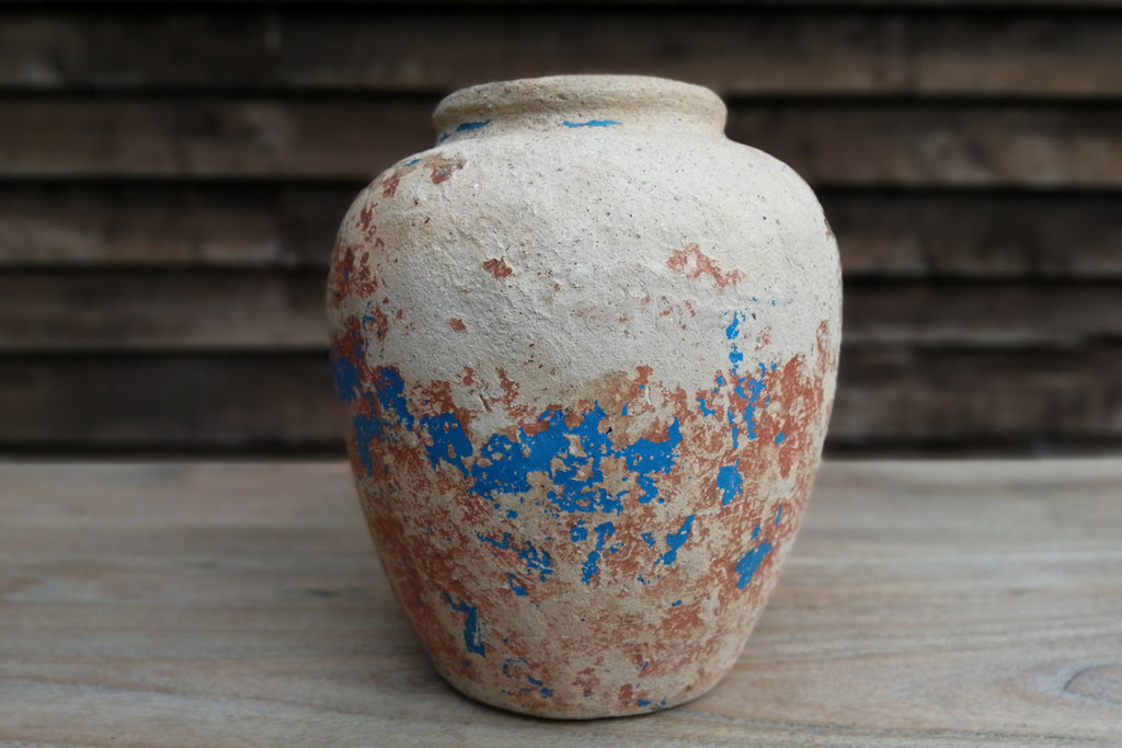 Vintage terracotta water pot from Borneo