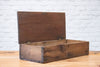 A vintage wooden storage box