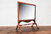 A Victorian  mahogany fire screen converted into a dressing table mirror