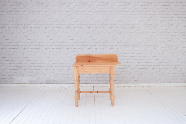 Vintage English pine side table
