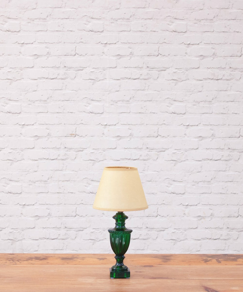 Urnie resin table lamp with natural vellum shade