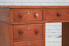 A Child's Victorian mahogany twin pedestal desk