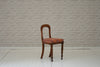 A Victorian mahogany bedroom or bathroom chair