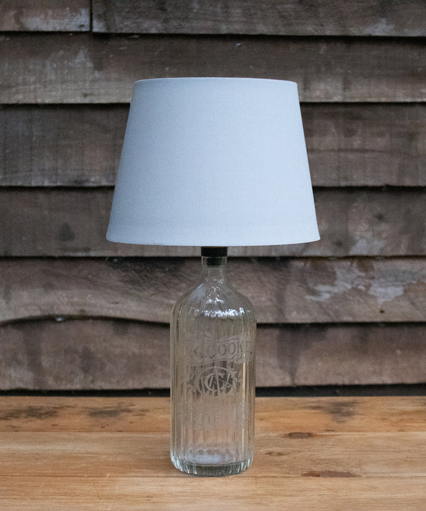 "A ""W. Ccooke"" vintage soda siphon bottle table lamp"