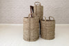 Cylindrical storage basket - Natural