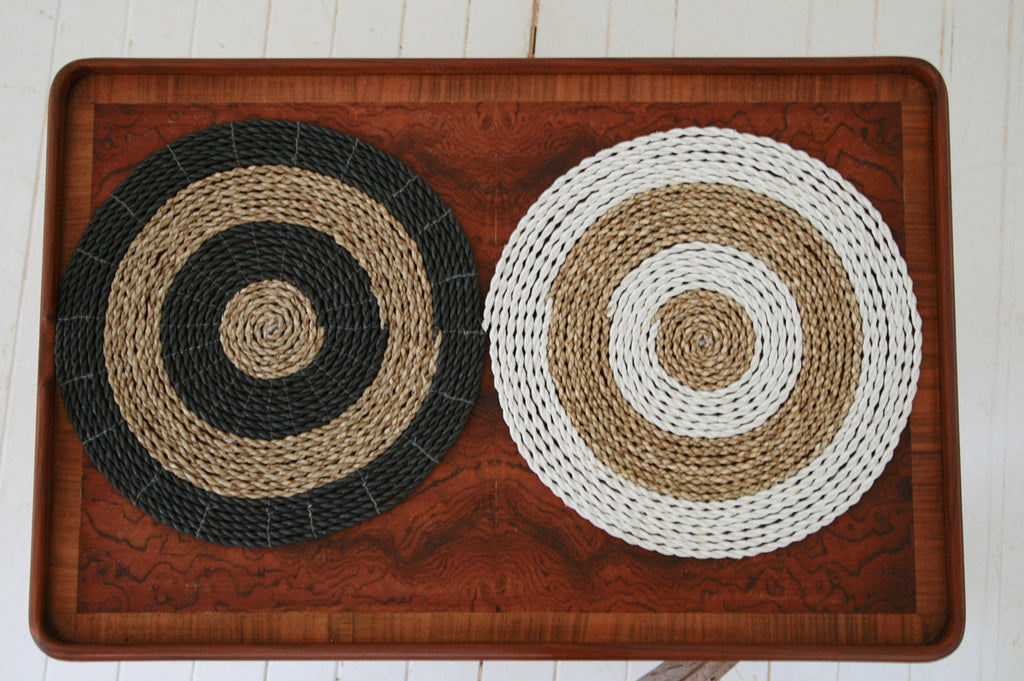 Handmade seagrass & recycled plastic place mats