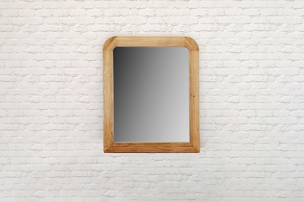 Large weathered Oak wall or mantle mirror