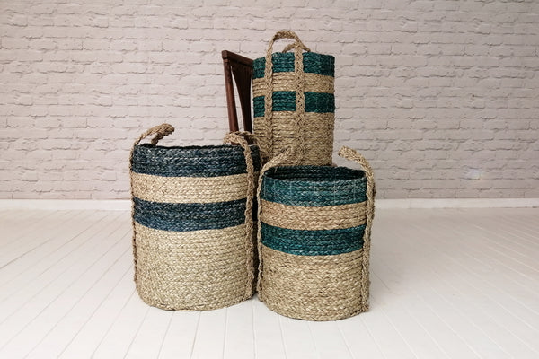 Cylindrical storage basket - Green