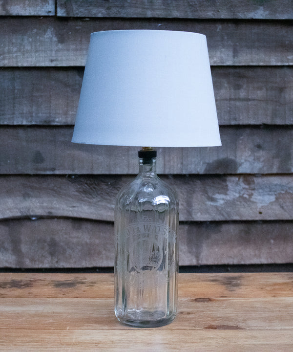 "A ""Wood & Watson"" vintage soda siphon bottle table lamp"