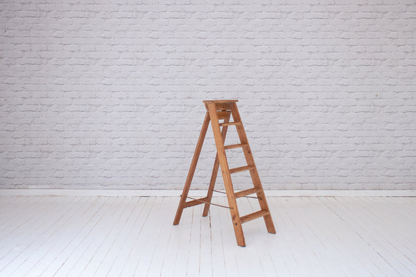 A vintage set of stepladders
