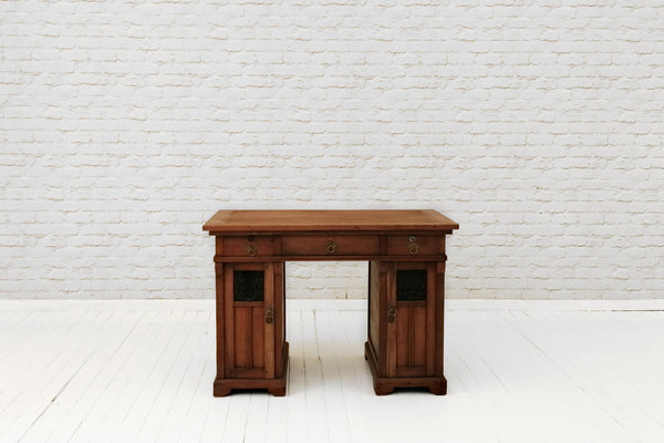 A stunning vintage teak Javanese writing table / desk