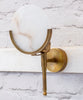 Fire Fly wall light in antique brass with alabaster globe