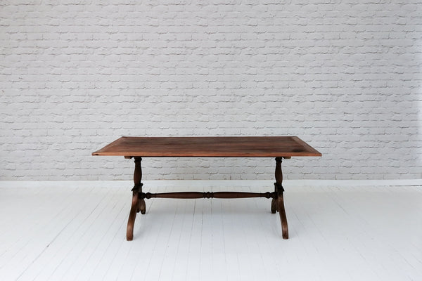 A vintage Javanese teak coffee table