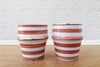Orange & gold hand made Moroccan espresso cups (set of two pcs)