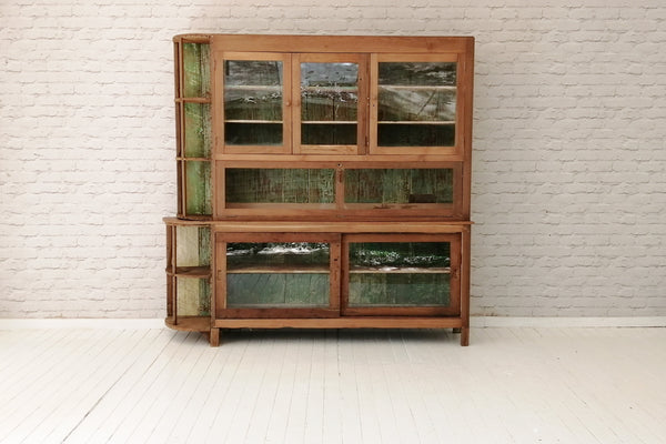A Javanese Art Deco teak display cabinet