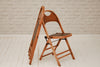 A set of eight vintage folding café chairs / dining chairs