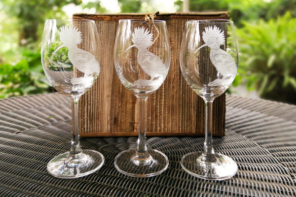 Engraved Wine glasses (set of 6)
