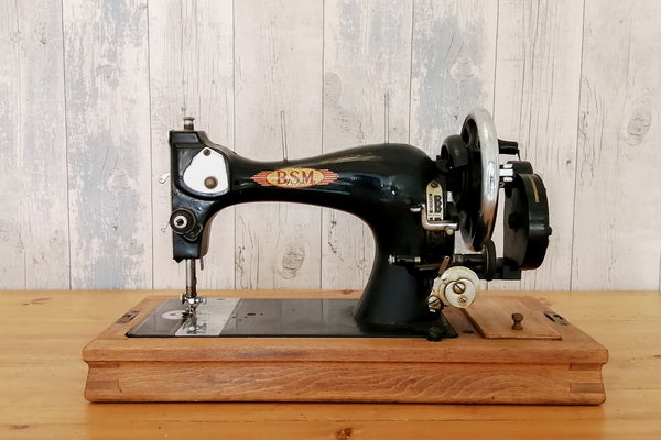 A vintage sewing machine in working order