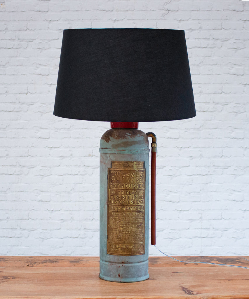 Vintage American fire extinguisher lamp