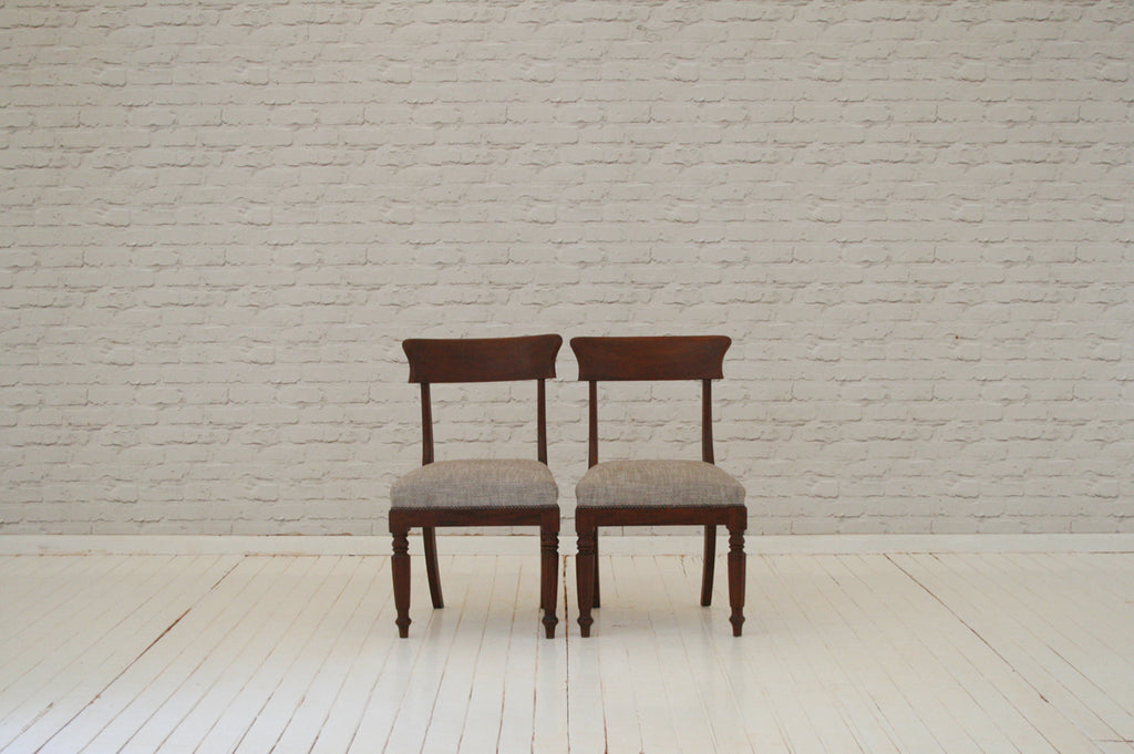 A pair of elegant mahogany dining chairs