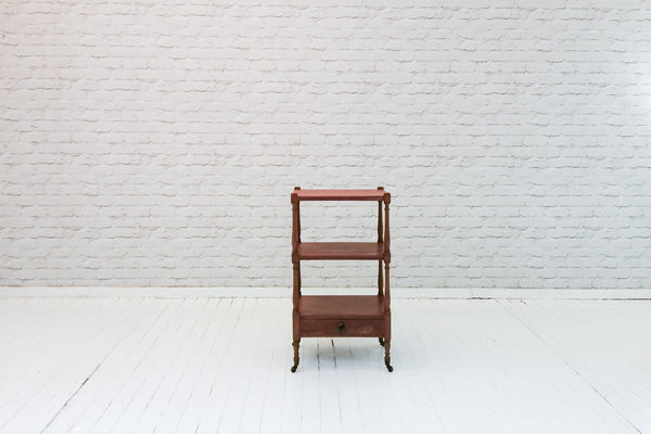 "A 19th Century mahogany three tier ""what-not"" or side table"