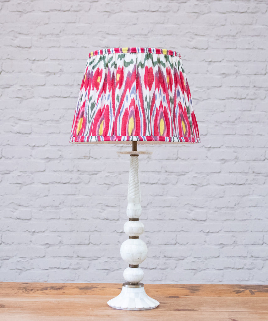 Shiva table lamp with Ikat Empire Shade