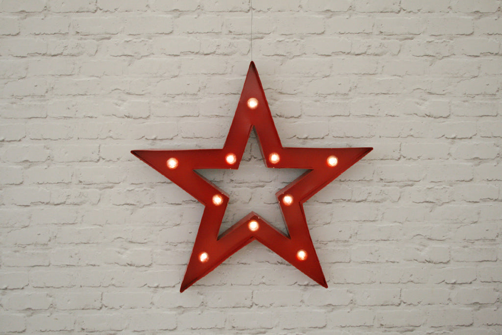 Red Lit Star