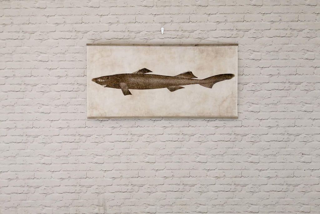 Antiqued parchment paper wall art - REQUIN