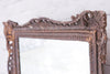An antique gilt & gesso mirror