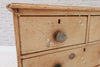 A Victorian pine chest of two over two drawers/Chest of Drawers