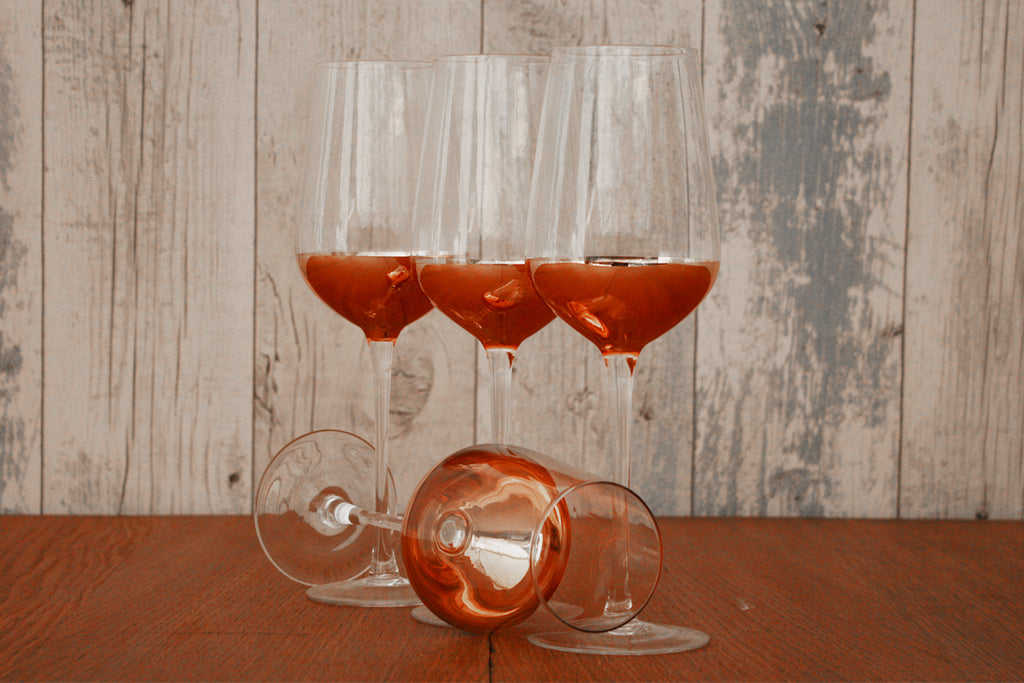 Set of 4 Copper White Wine