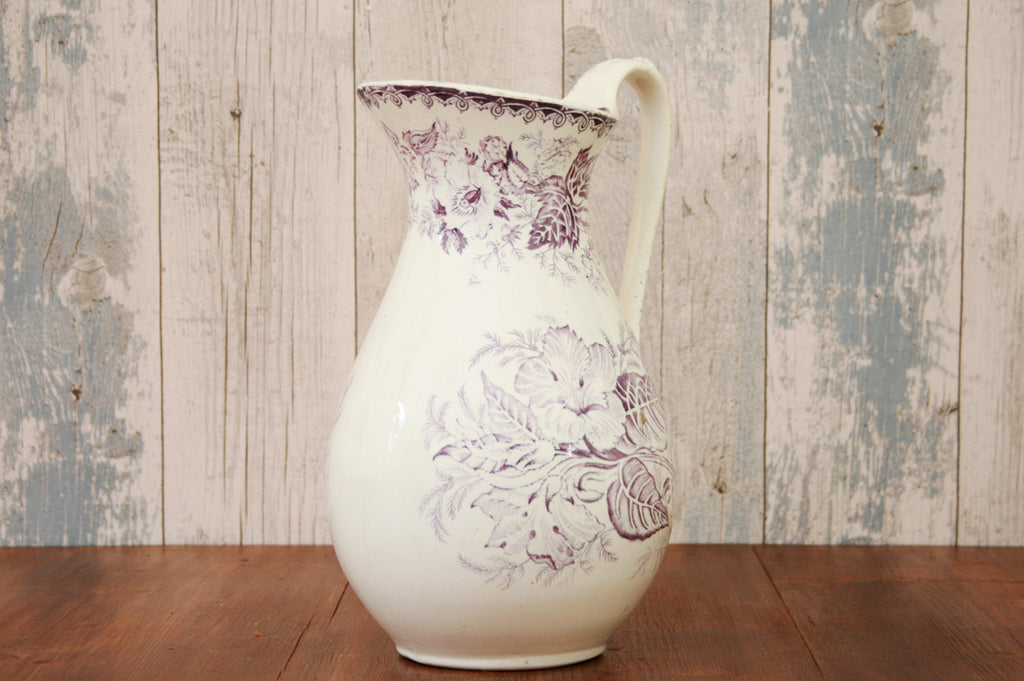 A vintage patterned wash jug