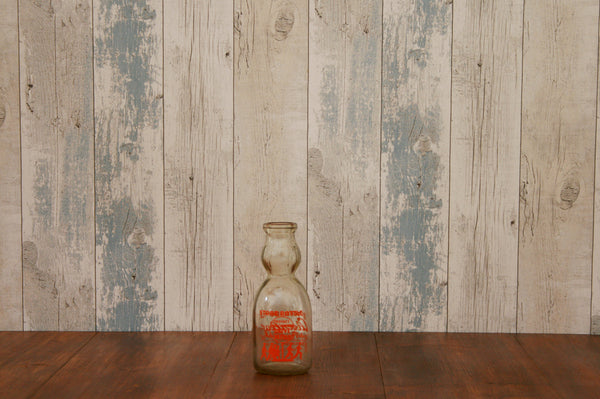 Vintage American milk bottle